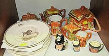 A Prices novelty six piece cottage tea service,