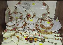 A Royal Albert Old Country Roses pattern part tea