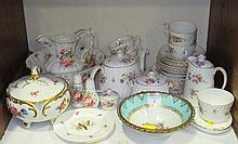 A Mintons Marlow pattern part tea service, a