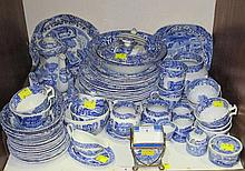 A large selection of Spode Italian pattern blue