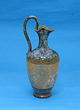 A Doulton and Slaters stoneware jug, in mottled