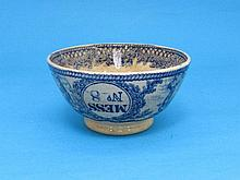 An early Bovey Tracey blue and white pottery Royal