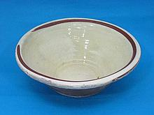A cook's slipware mixing bowl, 36cm.