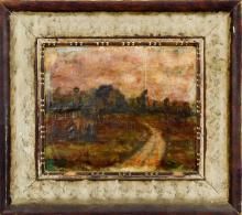 Hungarian School Oil on Board Landscape