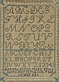 1827 Schoolgirl Alphabet Sampler Framed