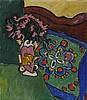 Münter, Gabriele1877 Berlin - 1962 Murnau/OberbayernTeetisch mit Blumenvase, Gabriele Munter, €100,000
