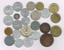 European Coin Collection from 1854 to 1957 Centime Franc Piastre Lire