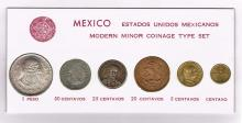 Mexico Modern Minor Coinage Type Set