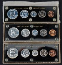 1956 1957 1959 US Proof Coin Sets