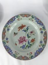 THREE CHINESE EXPORT PORCELAIN PLATE 18THC