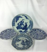 PAIR OF CHINESE B&W ANT TWO PLATES 18THC