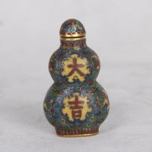 CHINESE CLOISONNE GOURD SNUFF BOTTLE