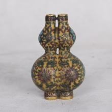 CHINESE CLOISONNE DOUBLE GOURD SNUFF BOTTLE