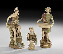 Three Royal Dux Porcelain Figures