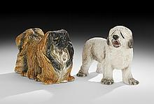 Two Porcelain Figures of Dogs
