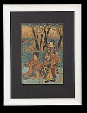 Suite of Seven Japanese Woodblock Prints