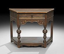 Jacobean-Style Carved Oak Side Table