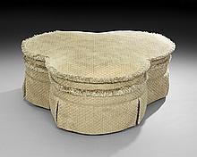 Contemporary Trefoil-Form Hassock