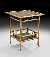 Anglo-Japonesque Bamboo Occasional Table