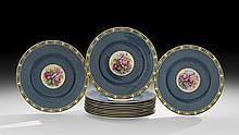 Twelve Royal Worcester Porcelain Cabinet Plates