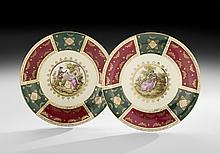 Pair of Royal Vienna-Style Porcelain Charges