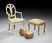 An Armchair and Two Stools