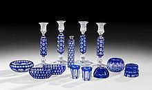 Thirteen Bohemian Overlay Glass Objets de Vertu