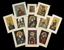 Collection of Eleven Russian Orthodox Drawings