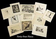 Collection of Forty-Four Works on Paper