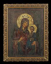Macedonian Icon of The Madonna and Child
