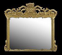American Rococo Revival Overmantel Mirror