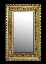 French Giltwood Cove-Molded Mirror