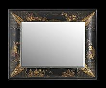 William and Mary-Style Japanned Mirror