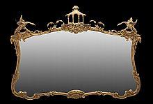 English Giltwood Overmantel Mirror