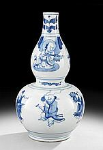 Chinese Blue and White Double-Gourd Vase