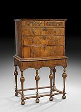 William and Mary Walnut Highboy