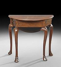 Queen Anne-Style Mahogany Occasional Table