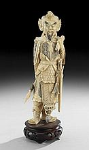 Chinese Ivory Figure of a Legendary General