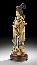Chinese Carved Figure of an Empress