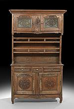 French Provincial Fruitwood and Oak Vasselier
