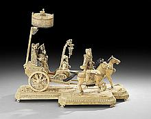 Chinese Carved Ivory Group of a Royal Procession
