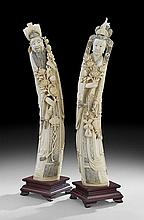 Chinese Carved Ivory Royal Pair
