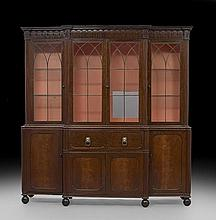William IV Mahogany Breakfront Bookcase