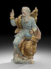 Italian Polychromed Figure of God the Father