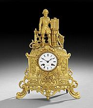 Napoleon III Gilt-Bronze Mantel Clock