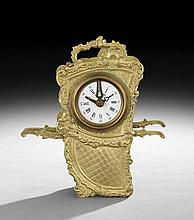 Gilt-Brass Sedan Chair-Form Carriage Clock