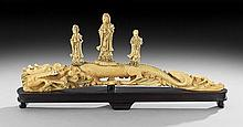 Chinese Ivory Carving of a Dragon