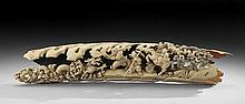 Chinese Fossil Ivory Carving