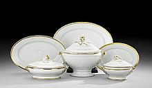 Six Anneau d'Or Porcelain Serving Dishes