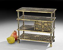 Japanese Lacquer Four-Tier Shelf